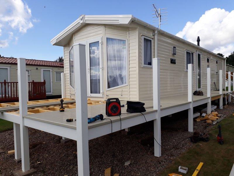 Caravan Deck Building Perthshire